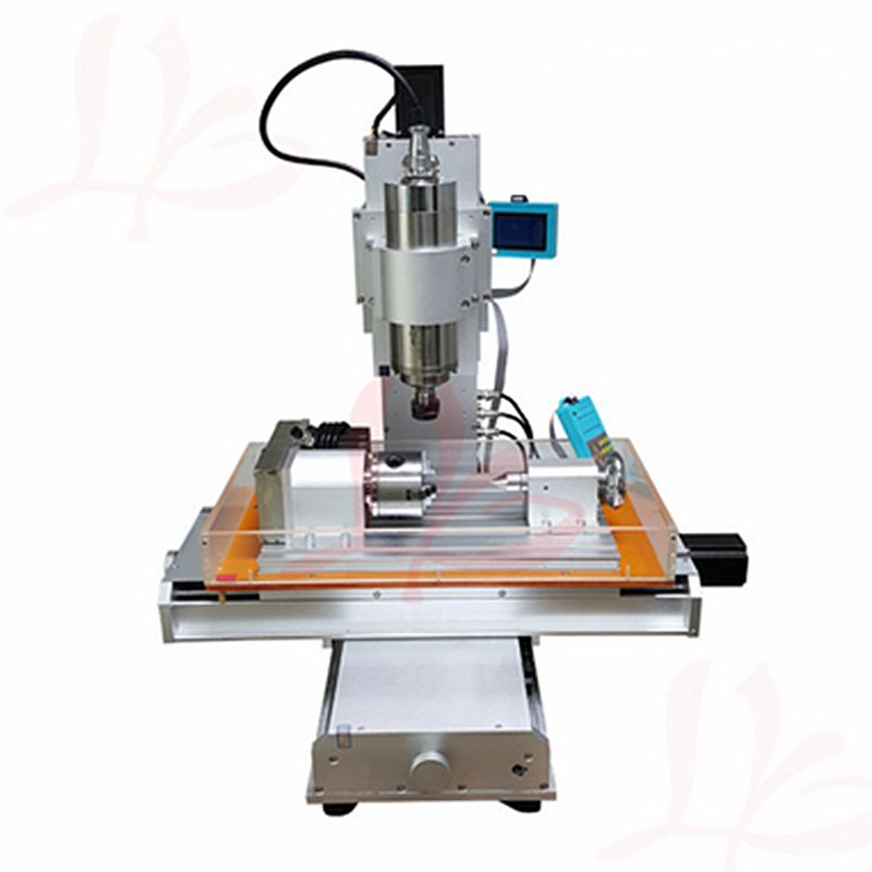4 axis cnc 3040 pillar type engraving machine,1500W Table Column Type woodworking Ball Screw cnc router