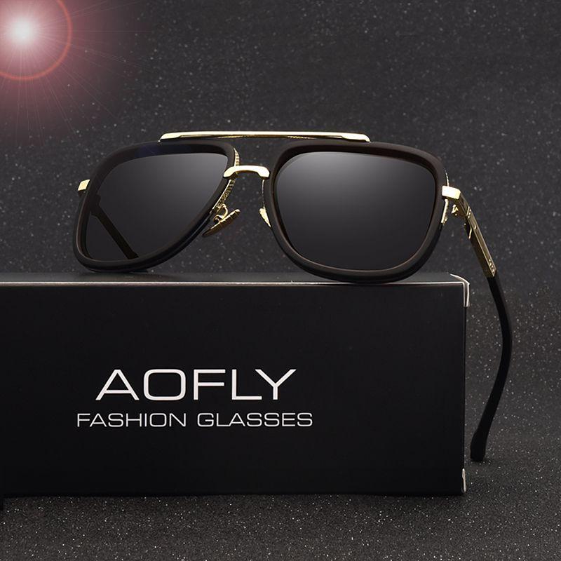 AOFLY Новая мода Для мужчин поляризационные Солнцезащитные очки для женщин мужские брендовые Дизайн поляроидный Роскошные Защита от солнца О...