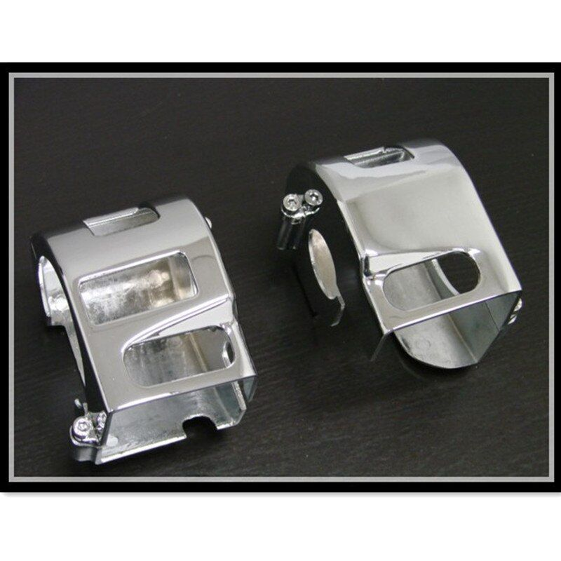 1 Pair Chrome Motorcycle Handlebar Switch Housing Covers For Yamaha V-Star 650 Road Star 1600/1700/Warrior Kawasaki VN900/VN2000