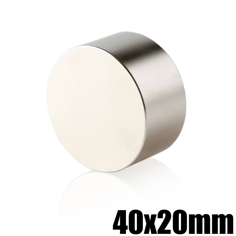 1 Piece N35 Neodymium Magnet 40x20 Permanent NdFeB Super Strong Powerful Round Magnetic Magnets Disc