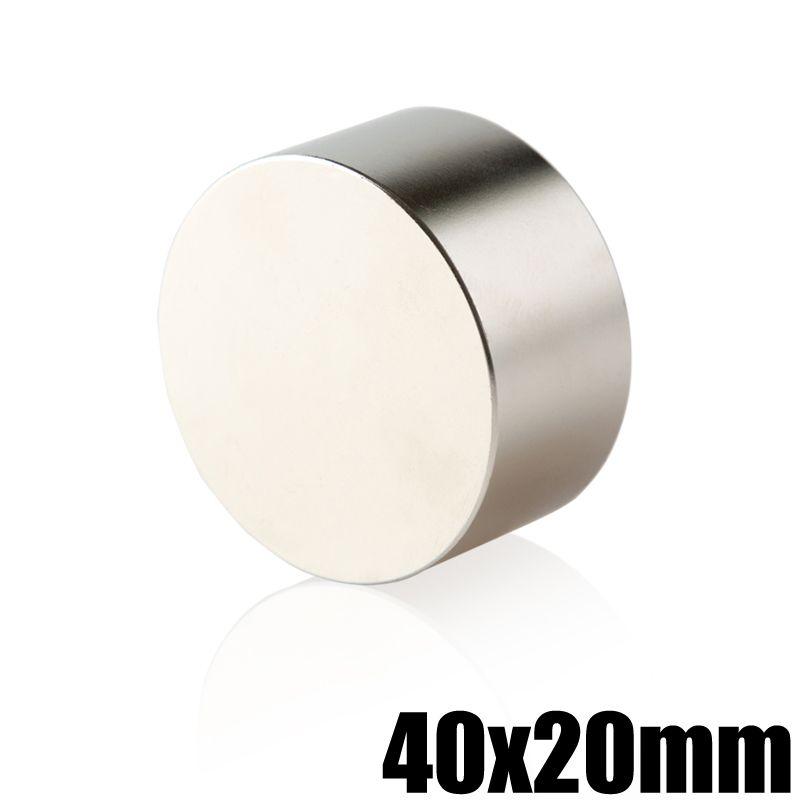 1 pièce N35 néodyme aimant 40x20 Permanent NdFeB Super fort puissant rond magnétique aimants disque