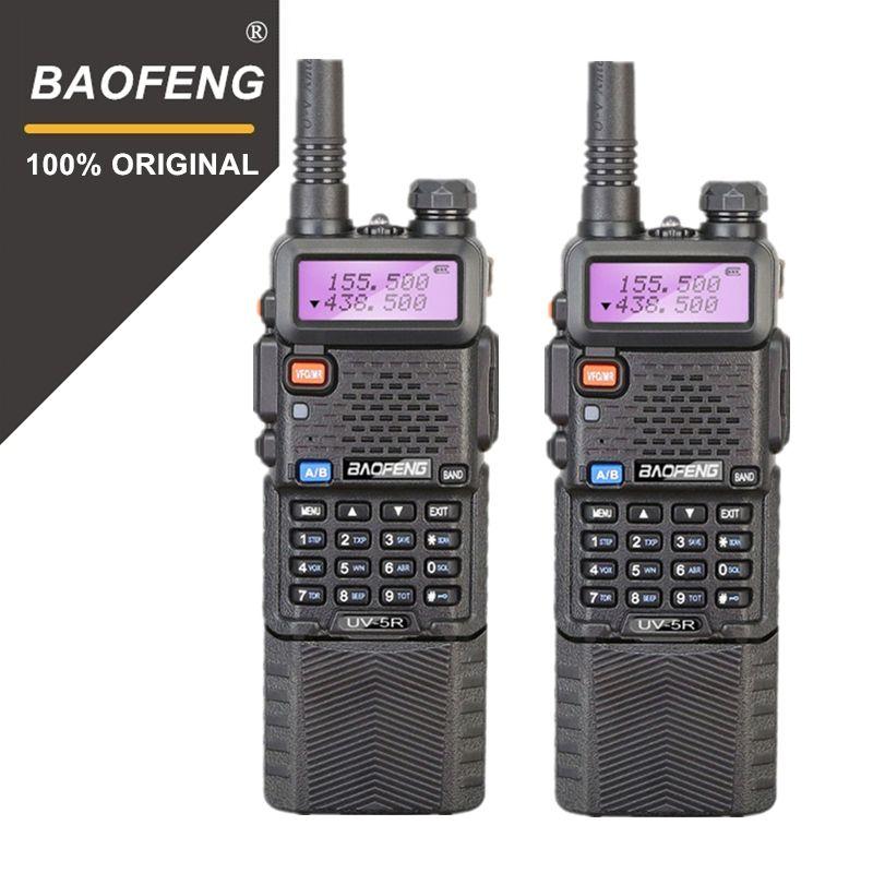 2pcs Baofeng UV-5R 3800 mAh Long Range Walkie Talkie 10KM Dual Band UHF&VHF UV5R Transceiver Portable Radio Station Woki Toki
