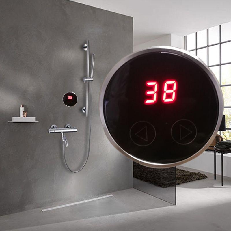 JMKWS Speicher Dusche Syster Thermostat Für Wasser Heizung Oder Becken Armaturen Thermostat Mixering Ventil Digitalen Touch-Display Panel