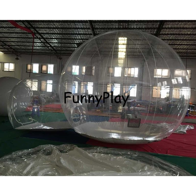 Outdoor Transparent Inflatable Bubble Tent, Clear Camping Tents, Crystal Bubble Tents,commercial Inflatable Trade Show Room