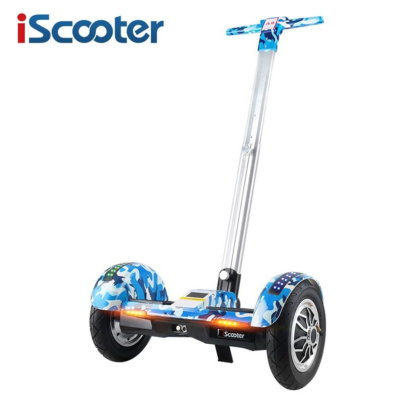 iScooter Hoverboard 10 inch Two Wheel Self Balancing Scooter Samsung Battery Bluetooth with Handle Standing Balance Hover board