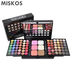MISKOS Set Makeup 78 Pewarna Mata Palette Pewarna Mata Set Lip Gloss Foundation bedak bedak Perangkat Makeup Blush Tas kosmetik make up makeup kit Kecantikan Kit Makeup Kosmetik Make up Sets