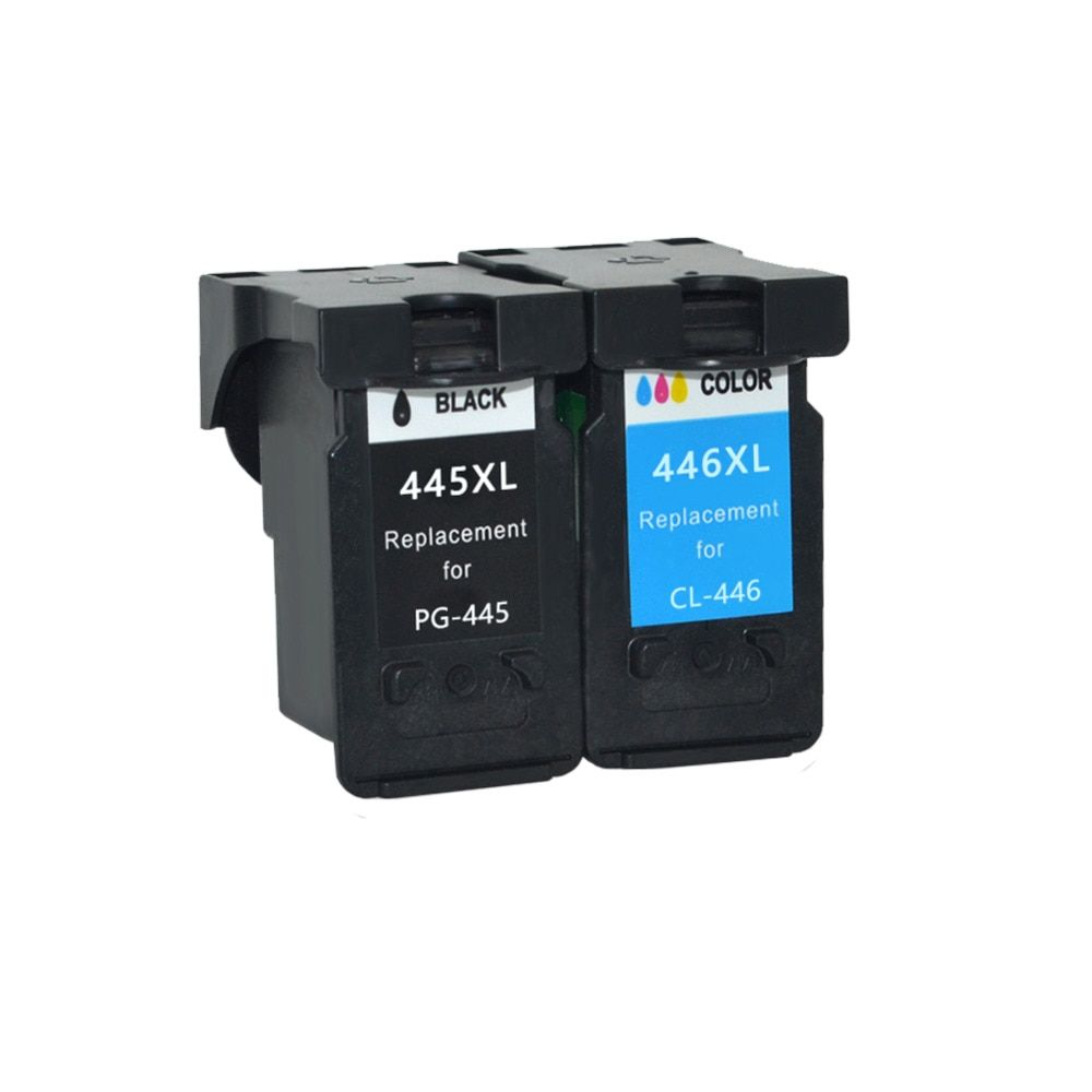 YLC 1set PG445 XL CL446 XL PG-445 CL-446 Compatible Cartridges For Canon ip2840 2840 MG2440 2440 MG2540 2940 mx494 printer