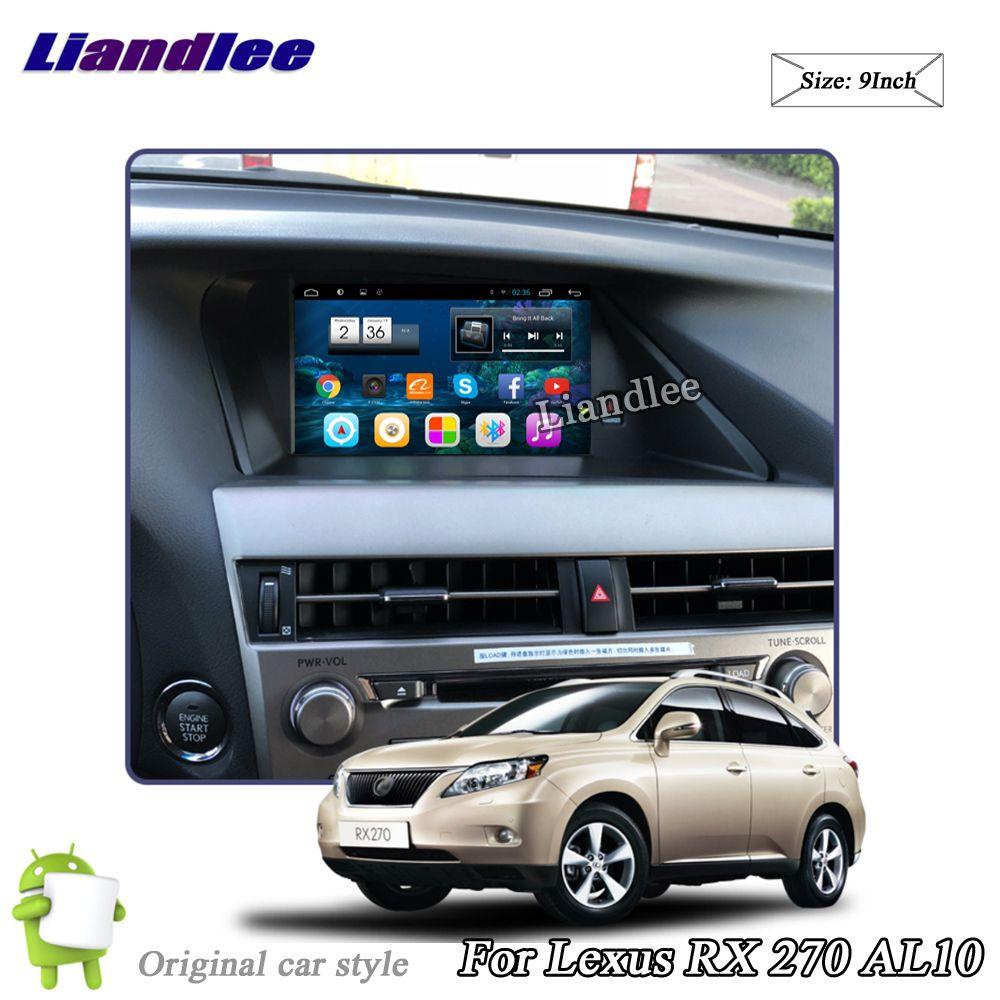 Liandlee Car Android System For Lexus RX 270 RX270 AL10 2008~2015 Radio Stereo Carplay GPS Wifi Navi MAP Navigation Multimedia
