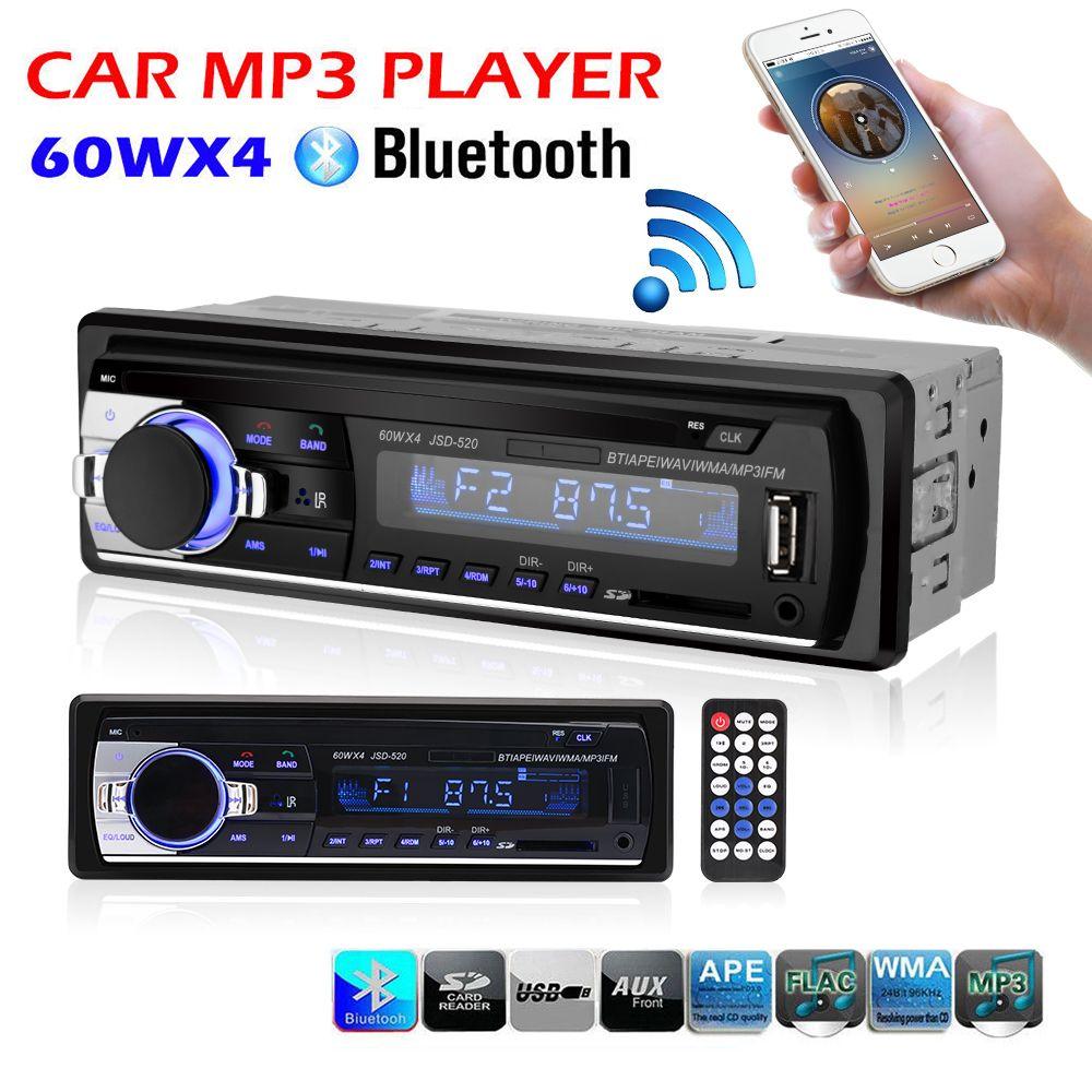 Car <font><b>Radio</b></font> Stereo Player Bluetooth Phone AUX-IN MP3 FM/USB/1 Din/remote control 12V Car Audio Auto 2017 Sale New
