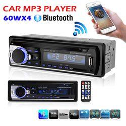 Voiture Radio Stéréo Lecteur Bluetooth Téléphone AUX-IN MP3 FM/USB/1 Din/télécommande 12 V De Voiture Audio Auto 2017 Vente Nouveau