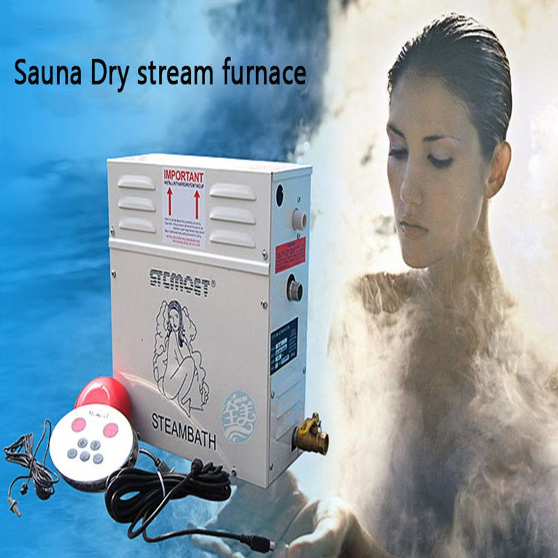 6KW 220/380 V Heimgebrauch Dampf Maschine ST-60 Dampf Generator Sauna Trockenen Stream Ofen Nass Dampf Dampfer Digital controller 1 PC