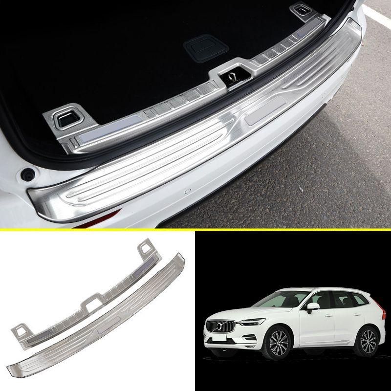 Für Volvo XC60 Zweiten Generation 2018 Edelstahl Auto-Styling Zubehör Inneren und Äußeren Hinteren Stoßfänger Schützen Platte Abdeckung