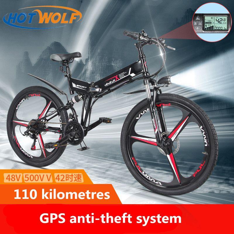 Neue Elektrische Fahrrad 21 Geschwindigkeit 10AH 48 V 350 W 110 KM Eingebaute Lithium-batterie E bike elektrische 26 off road Elektrische fahrrad Klapp