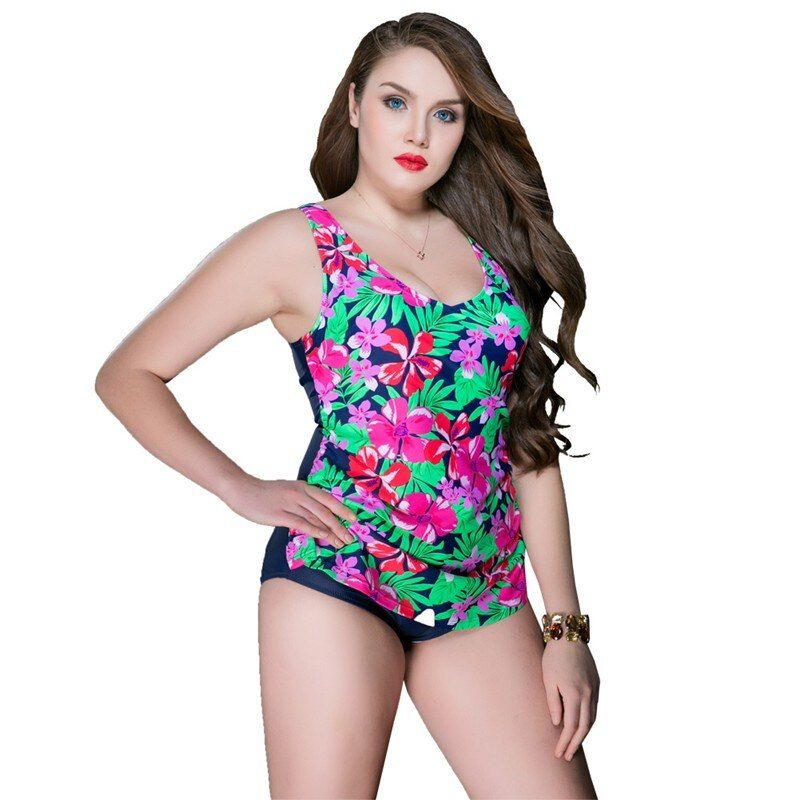 large cup swimwear Women sexy one piece swimsuit Plus Size Halter push up sexy bathing suit  patchwork solid Free shipping 6840