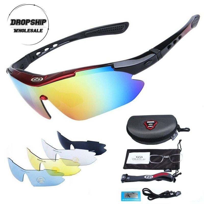 Polarized Cycling Glasses for Men Women Professional Riding MTB Sunglasses Mountain <font><b>Road</b></font> Oculos Windproof Eyewear