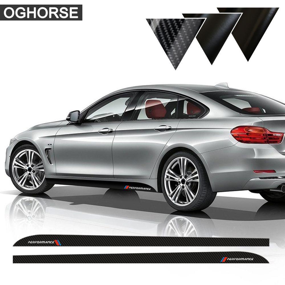 Car Styling Newest M Performance Side Stripe Skirt Sill Sticker Decal for BMW f30 f31 x5 f15 f85 e60 e61 f22 e90 f10 f11 f01 f02