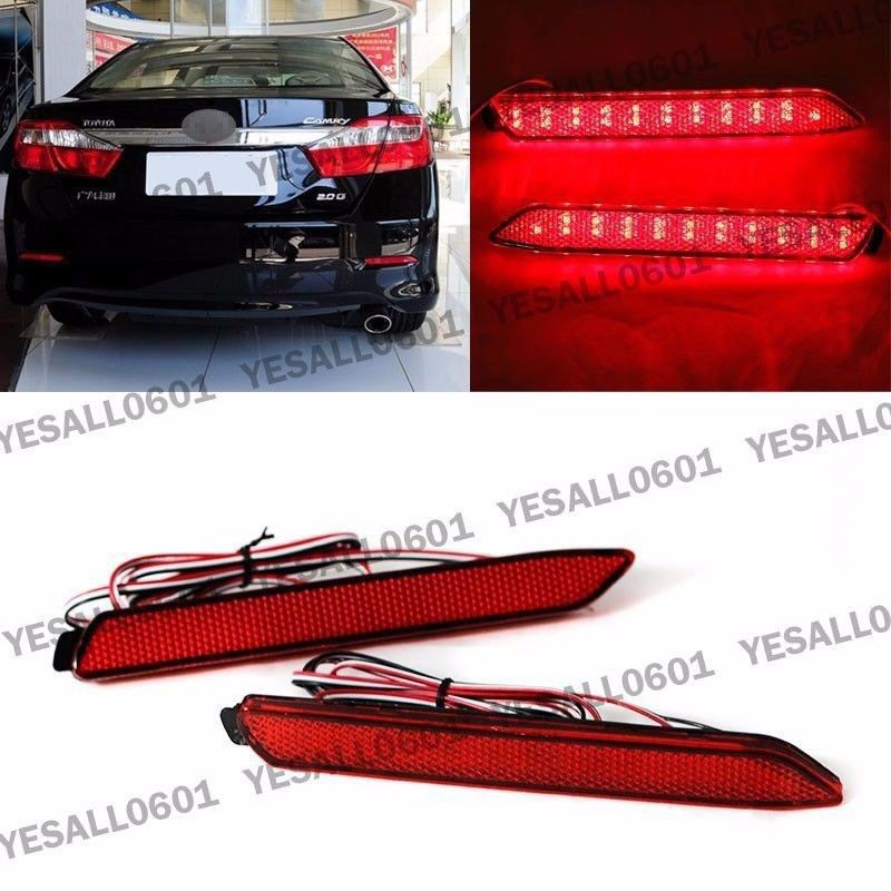 CYAN SOIL BAY 2pcs LED Rear Bumper Reflector Brake Light for Toyota Camry Reiz Matrix Venza For Lexus IS-F 2008-2011 GX470 RX300