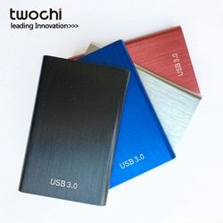 Twochi Métal Coloré HDD 2.5 ''80 GB 120 GB 160 GB 250 GB 320 GB 500 GB dur externe lecteur USB3.0 hd Périphériques De Stockage disque dur