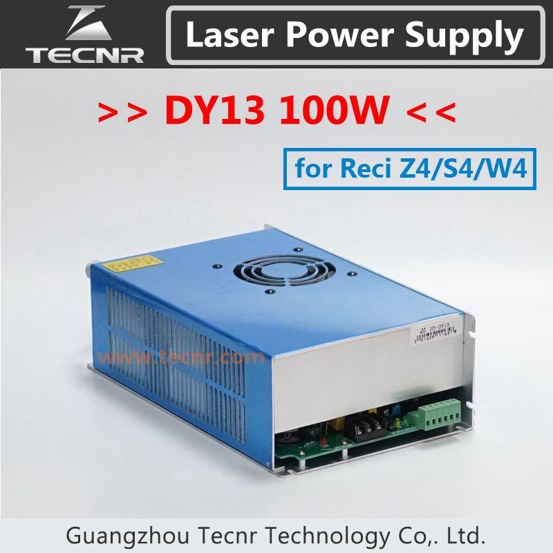 Laser Co2 DY13 alimentation 100 W pour W4/Z4/S4 Reci Co2 Laser Tube pilote gravure Machine de découpe