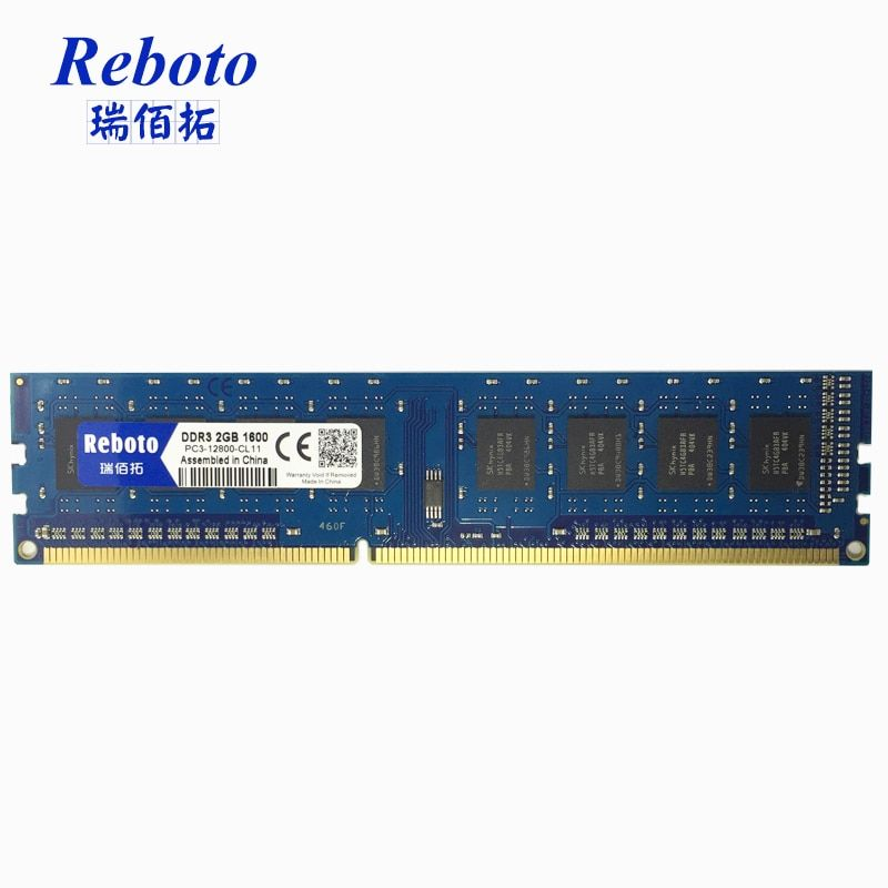 Reboto DDR3 2GB 1333 1066 1600 MHZ desktop RAM Memory compatible with all motherboard