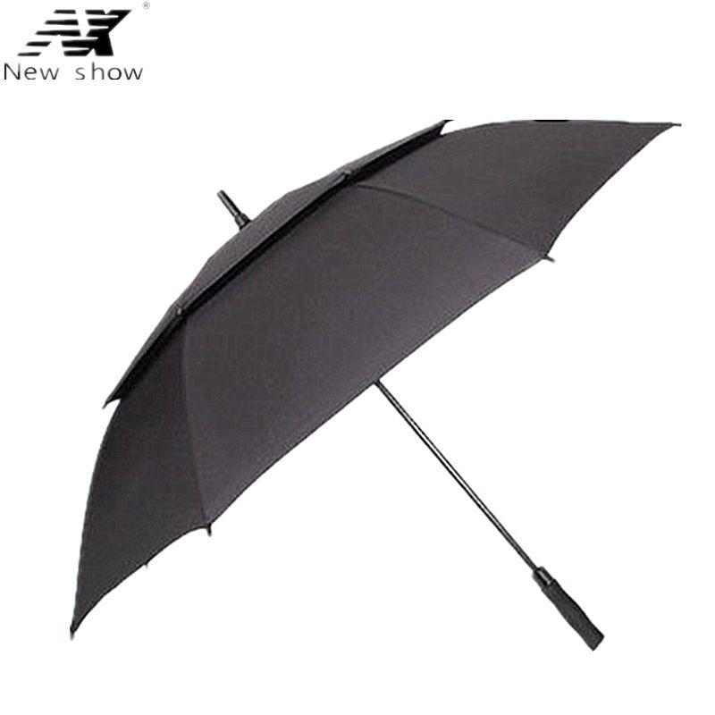 NX Golf parapluie grand vrai double couche 135 CM long parapluies créatifs hommes et femmes affaires parapluie super stong coupe-vent