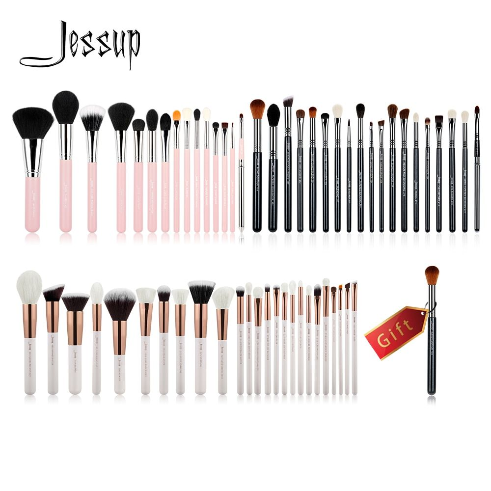 Jessup Buy 3 get 1 gift Makeup Brushes set Powder Foundation Eyeshadow Eyeliner Lip Pro Make up Brush Tool High Quality Blushes
