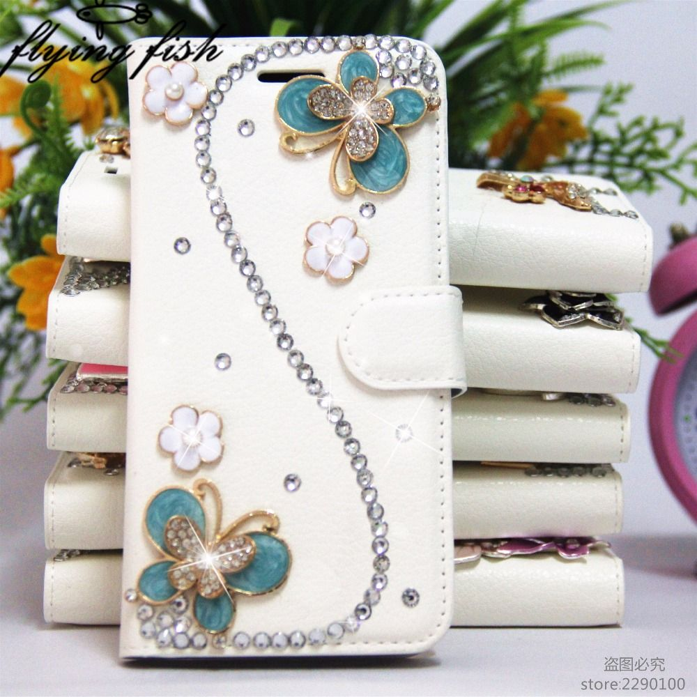 flying fish For Samsung Galaxy A3 A5 A7 A8 A9 2017 2016 2015 Case Bling Diamond Rhinestone Flip Leather Kickstand Wallet Cover