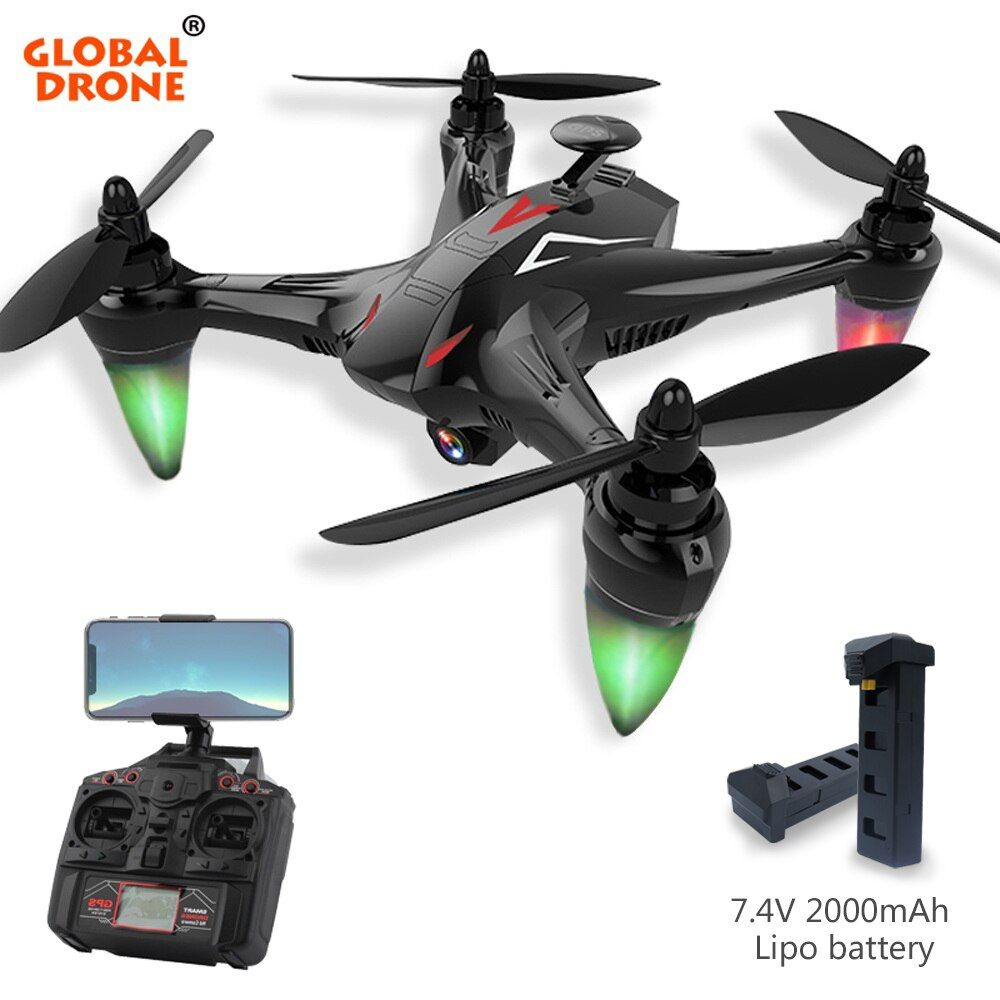 Global Drone Ray Long Range Remote Control Auto Follow Mode 5G Wifi FPV GPS Long Time Fly Quadcopter with Camera HD 1080P