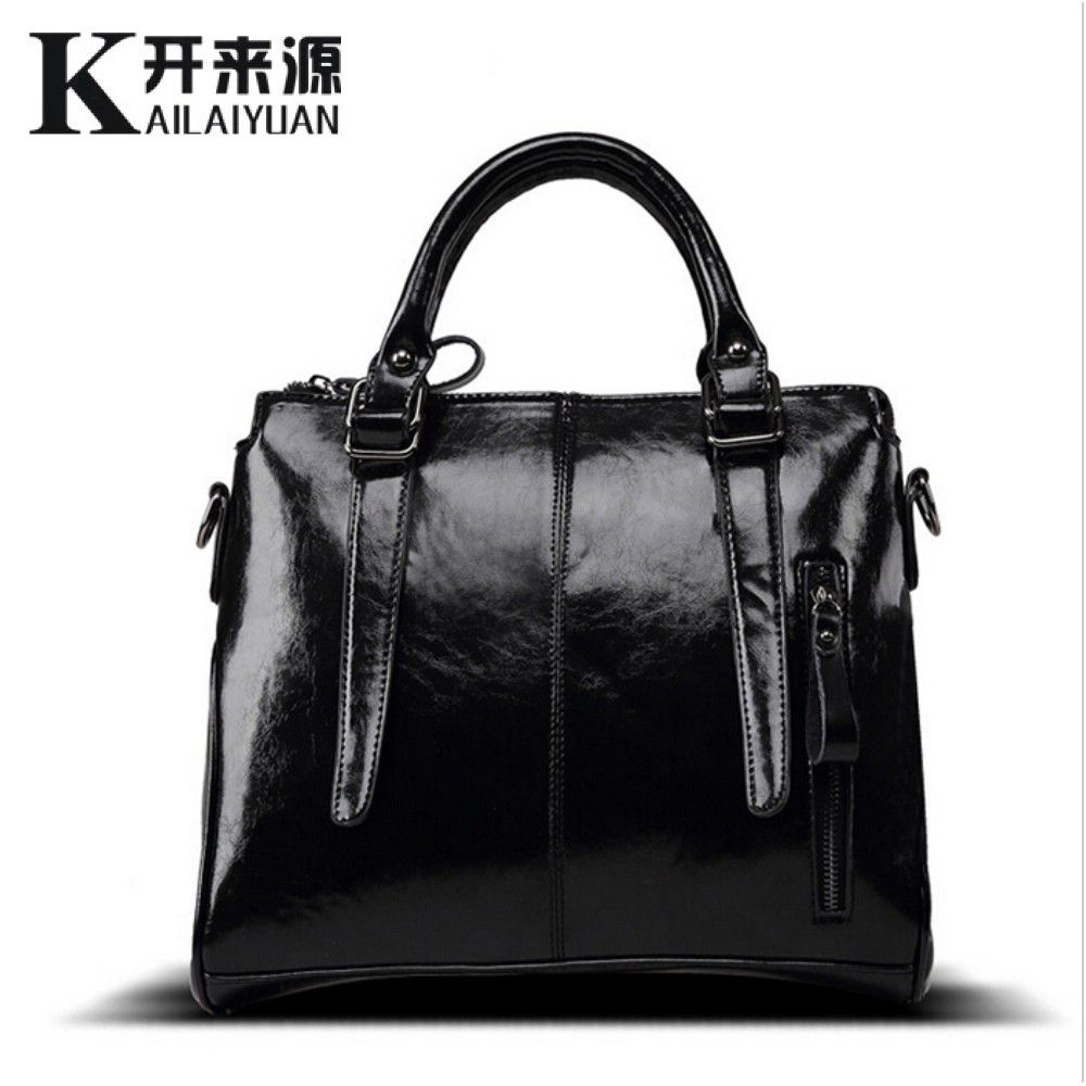 KLY 100% Genuine leather Women handbags 2018 New brand design Messenger bag fashion ladies Crossbody Bag famous brand bags
