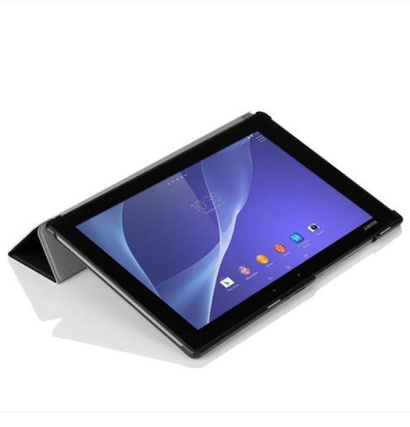 Étui en cuir de Style Original pour Sony Xperia tablette Z2 + PC support magnétique Smart Cover + protecteur d'écran + stylet tactile cadeau
