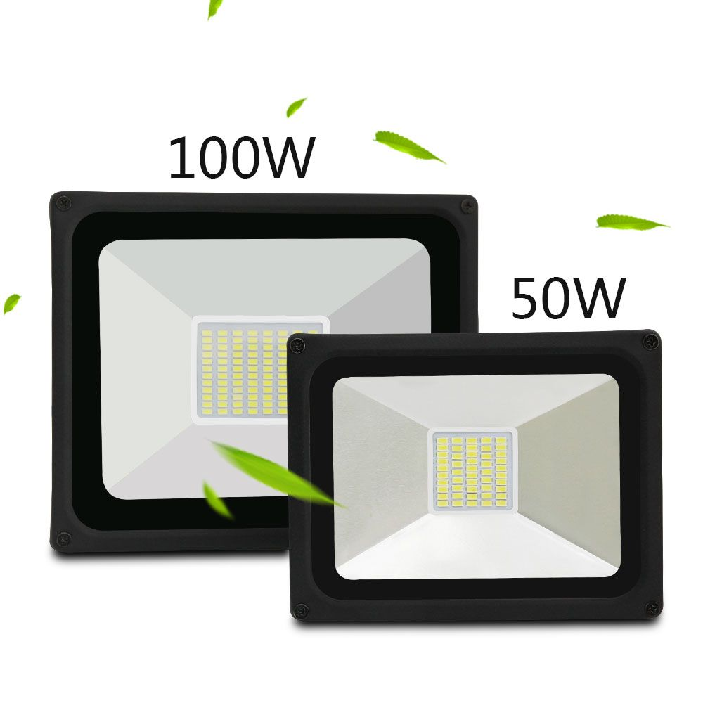 Waterproof IP65 LED Flood Light AC 176-264v Reflector Floodlight 50W 100W Warm/Cold white Spotlight Outdoor Wall Lighting
