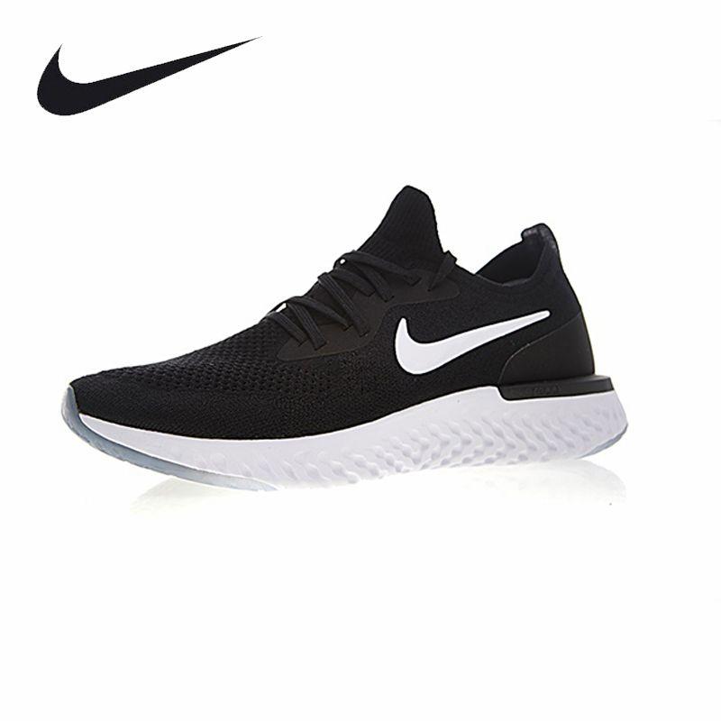 Nike Epic React Flyknit Men Running Shoes Black Professional Sport Sneakers For Men AQ0067