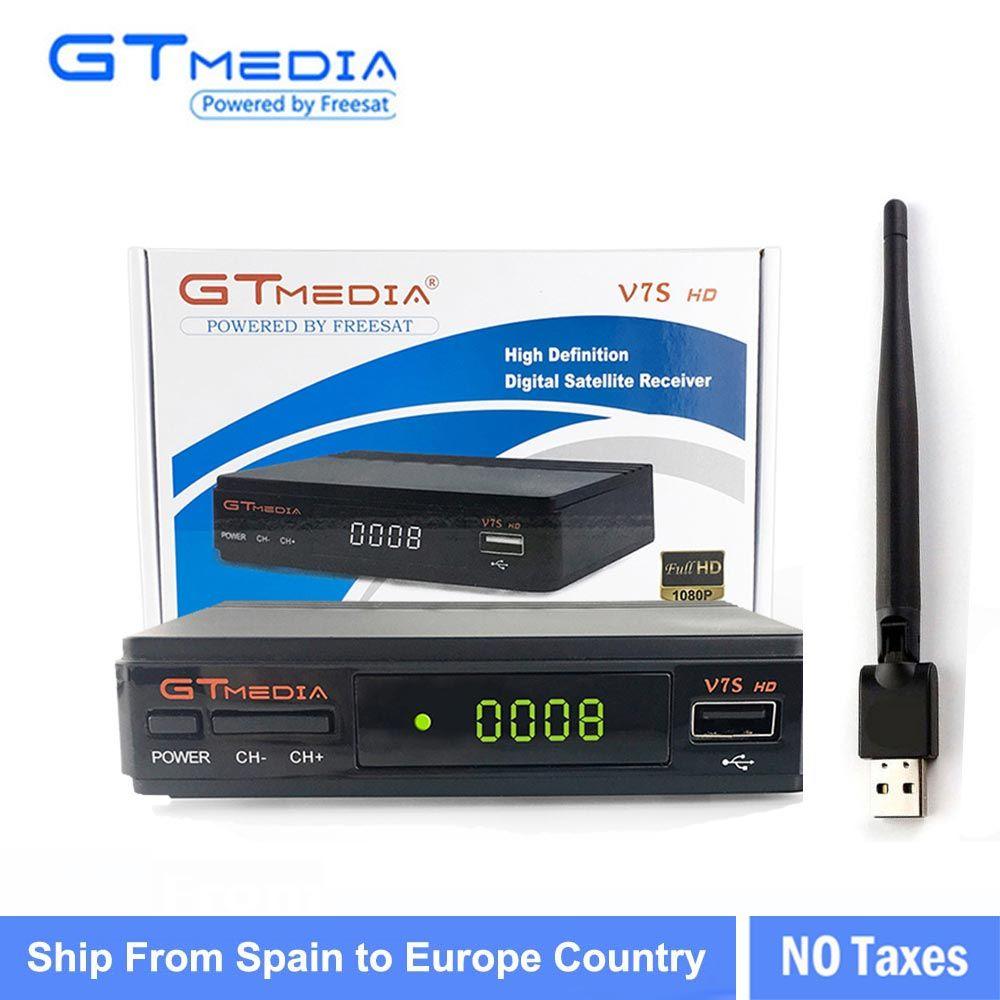 3/5/10pcs GTMEDIA V7S HD+ WIFI Antenna DVB-S2 HD Youtube PowerVU CLINES Newcamd 10 PCS GTMEDIA V7S satellite receive