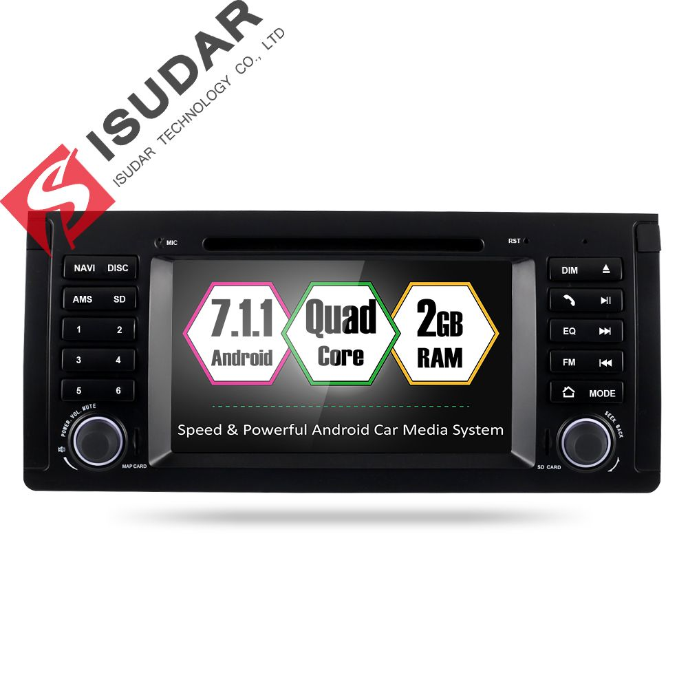Isudar Car Multimedia player Android 7.1.1 GPS 2 Din Car Radio Audio Auto For BMW/E39/X5/M5/E53 2GB RAM 16GB ROM Wifi Radio DSP