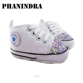 Принцессы со стразами розовый детская обувь ручной работы со стразами AB Кристалл маленьких bling обувь детская мода детская обувь для девочек