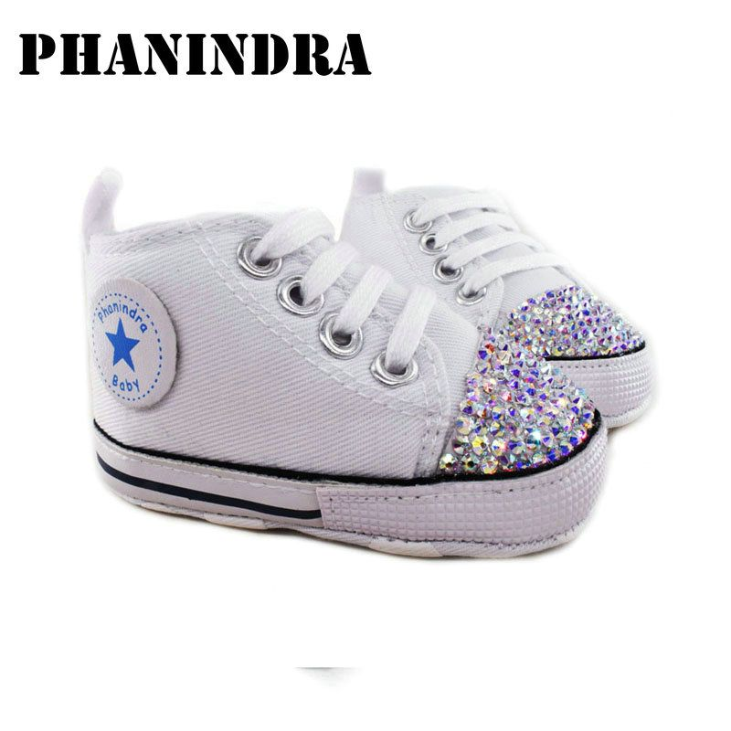 Rhinestone princesa Zapatos de color rosa bebé hecho a mano AB rhinestone Crystal bling bling de los zapatos del niño del bebé niños de la manera zapatos de niña,