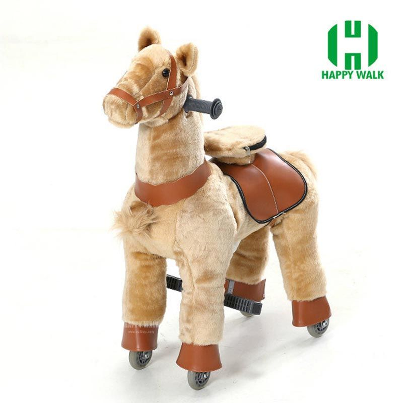 New Time-limited Brown Black White Hot Hi Ce Zebra Walking Horse Kiddie Size S Mechanical Horse Ride On Foal Pony Children Gifts