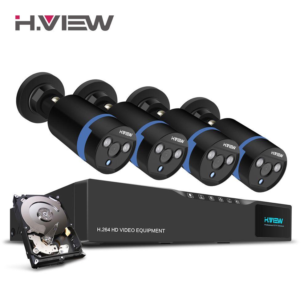 H. Ansicht 16CH Überwachung System 4 1080 P Outdoor-überwachungskamera 1 TB HDD 16CH CCTV DVR Kit Video überwachung Easy Remote View