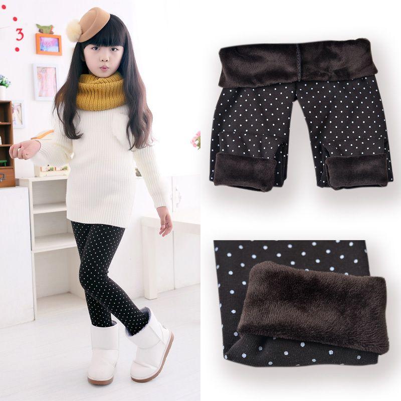 SheeCute Printemps Automne Hiver Nouveau Mode Enfants de 3-11 Année Coton Chaud Pantalon Filles KidsTrousers Impression Legging
