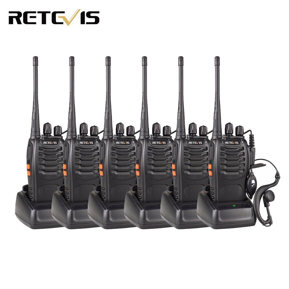 6 pièces Talkie-walkie Retevis H777 3 W UHF 400-470 MHz Fréquence Portable Jambon Radio Émetteur-Récepteur Hf Radio Communicateur Pratique