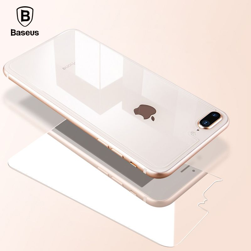 Baseus Tempered Glass Protector Back Glass For iPhone 8 8 Plus Ultra Thin 0.3mm Scratch Proof Glass For iPhone 8 Back Film Glass