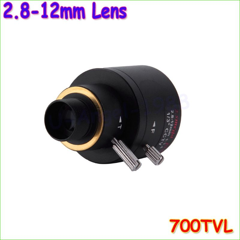 Wholesale 1pcs 2.8-12mm Focus Zoom Lens Mini 700TVL FPV HD 1/3 CCD Camera Module Wide Angle Sensor board Security CCTV Camera