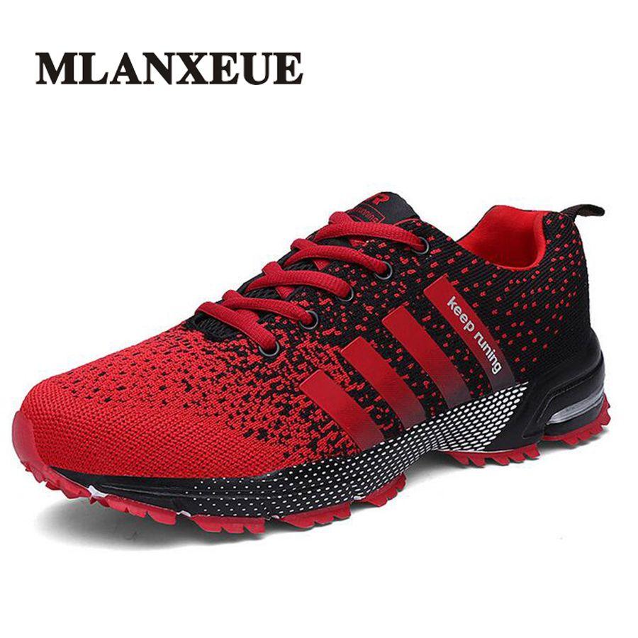 Mlanxeue Fashion Breathable <font><b>Lovers</b></font> Unisex Casual Shoes Lace-up Men Shoes Human Comfortable Race Male Shoe Size 35-46