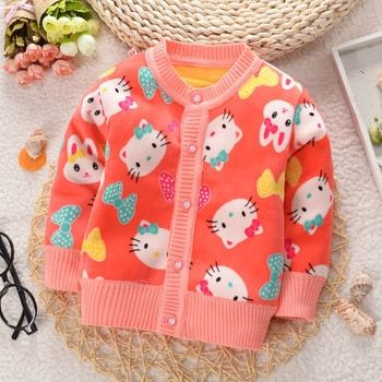 Hurave Autumn Baby Girls Knit Sweater Coat Children Long Sleeve open stitch Clothes Girls Causal Jacket Kids Cotton Clothing