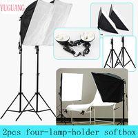 Фотостудия 50*70 см Softbox непрерывное освещение 4 в 1 E27 разъем свет лампы держатель с 2 шт. свет стенд фотографии комплект