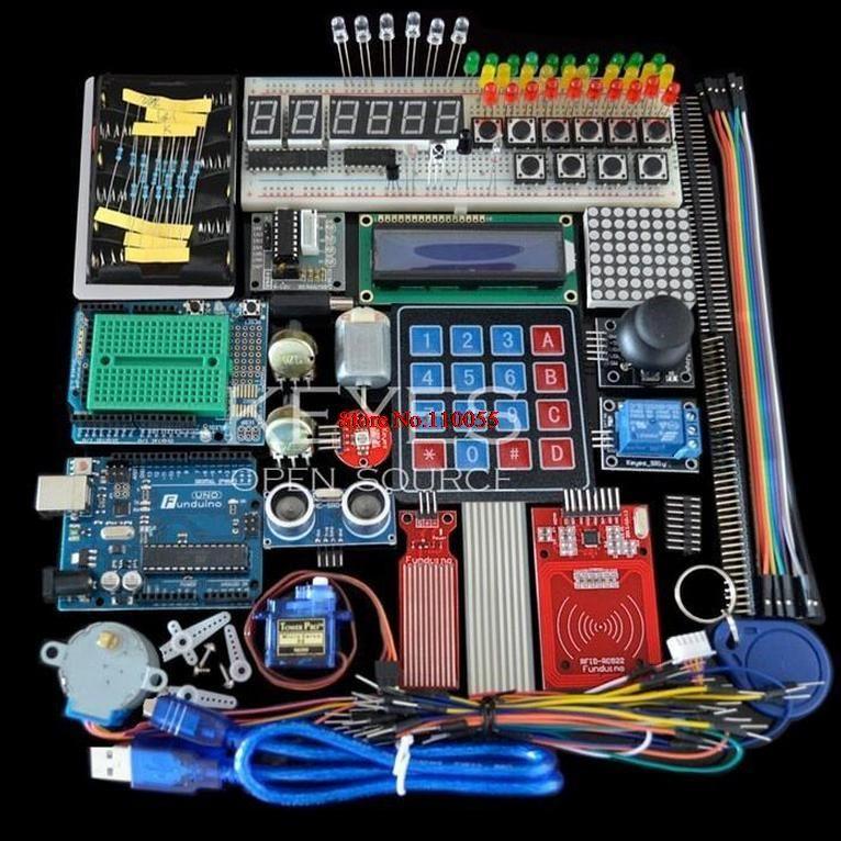 Starter Kit pour arduino Uno R3-Uno R3 Planche À Pain et titulaire Moteur Pas À Pas/Servo/1602 LCD/cavalier/UNO R3