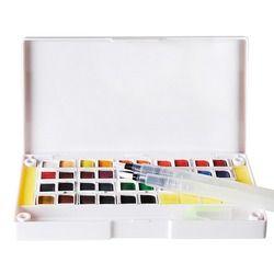 12 24 36 Couleurs Pigment Solide Aquarelle Peintures Set Crayons de couleur Pour Dessin Peinture Aquarelles Art Fournitures
