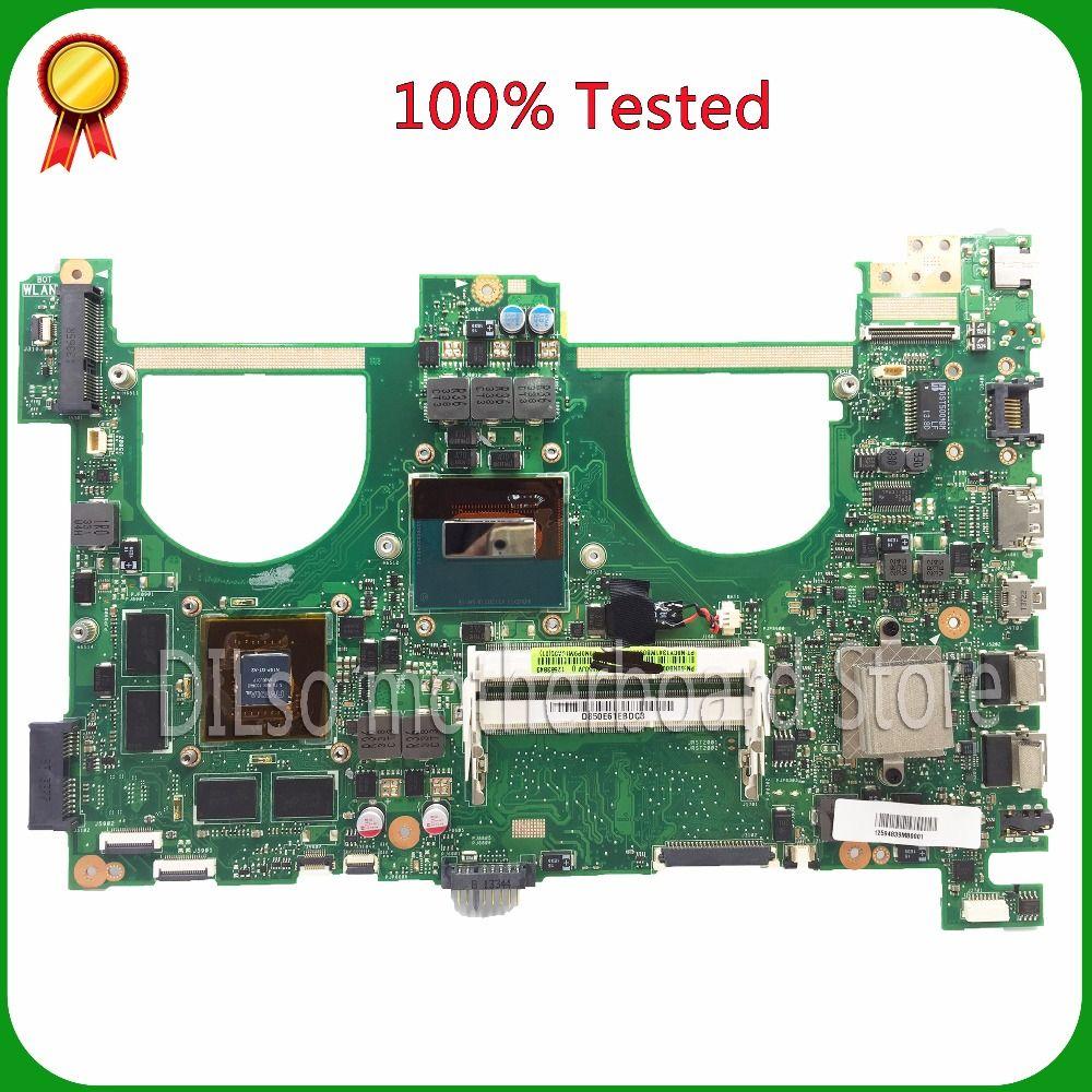 KEFU N550JV For ASUS N550jv Laptop Motherboard i7-4700HQ GT750 4GB/2GB GPU Mainboard 100% tested new motherboard