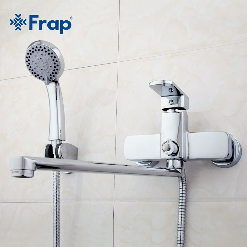 Frap High-quality Brass body 35cm length outlet rotated Bath room <font><b>shower</b></font> faucet With ABS <font><b>shower</b></font> head F2273
