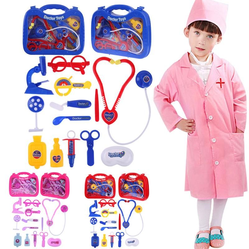 Baby Kids Funny Toys Doctor Play Sets Simulation Medicine Box Pretent Doctor Toys Gifts for Children High Quality